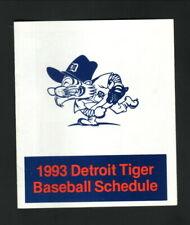 Detroit Tigers--1993 Pocket Schedule--Amerisure