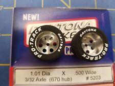 Pro Track #5203 Daytona stockers 1.01 x .500 rear Tires 3/32 axle 670 (Hub)