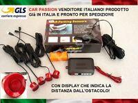 KIT 4 SENSORI DI PARCHEGGIO AUTO ROSSO DISPLAY SMART FORTWO FORFOUR ROADSTER