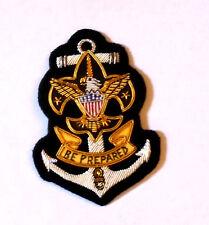 Sea Boy Scout Club Uniform Bullion Anchor Eagle Blazer Badge Patch Award BSA Sew