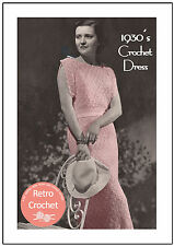 Années 1930 dentelle robe crochet Pattern-copie