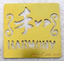 NICOLE Harmony Brass Stencil NEW Template Airbush Scrapbook Emboss B85