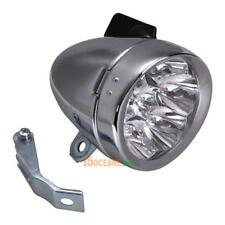 Retro Bicycle Bike Accessory Front Light Bracket Vintage 7LED Silvery Head Lamp