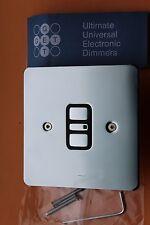 Ottieni Ultimate flatplate 1G SINGLE Elettronico Dimmer Cromato Lucido 60-300w