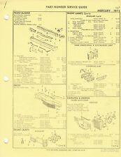 1975 Mercury Monterey Marquis Factory OEM Part Number List gtc