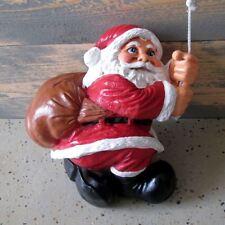 WEIHNACHTSMANN NIKOLAUS am Seil kletternd Deko Weihnachten ADVENT SANTA CLAUS