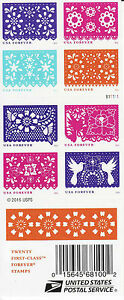 COLORFUL CELEBRATIONS STAMP BOOKLET -- USA #5081-#5090 (5090b) FOREVER 2016