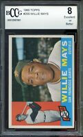 1960 Topps #200 Willie Mays Card BGS BCCG 8 Excellent+