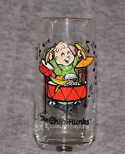 """VINTAGE 1985 Alvin and The Chipmunks THEODORE 6"""" COLLECTOR'S GLASS Hardee's"""