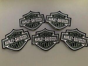 HARLEY DAVIDSON  Logo Iron On / Sew On Patch Vest Jacket Bar & Shield Bike Motor