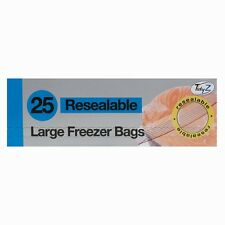 Large Freezer Bags Resealable Food Bags Strong Grip Seal 25cm x 25cm x 25