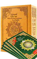 Tajweed Quran English Transliteration 30 Parts Set - Islam Qur'an Mushaf color