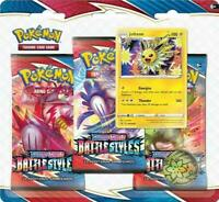 Pokémon Battle Styles Three (3) Booster Pack Blister JOLTEON Brand New Sealed