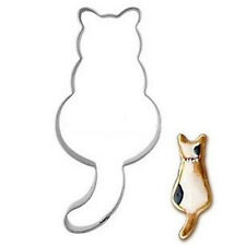 Stainless Steel Cookie Cutter Cat shadow Cake Biscuts Cutter Fondant DIY Mold