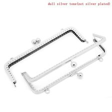 2 Silver Tone Purse Frame Metal Bag Kiss Clasp Lock  20cm x 8.5cm