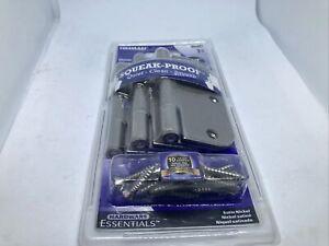 3 Hinges Hillman Quiet Nickel Squeak Proof Hinge  854321 Door Hardware E22