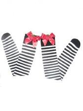 Women Over Knee Christmas Stockings Sexy Hosiery Black White