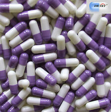 DR T&T 1000 Empty purple white Gelatine Gelatin capsules size00 size 00