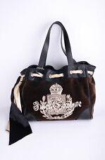 JUICY COUTURE Velvet Crown Dark Brown Women's Handbag