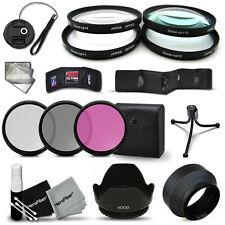 52mm MACRO Filters +3 Filters +Lens Hood f/ CANON 7D 6D 5D 7D Mark ii 5D Mark ii