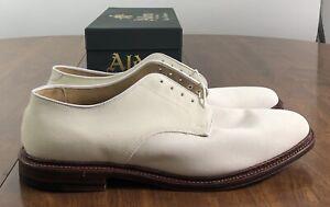 Alden Arthur Unlined Plain Toe Dover in Ivory SZ. 11.5D 29330F