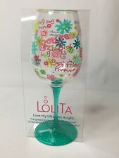 Lolita Best Friends Forever Wine Glass 16oz Durable Acrylic Drinkware