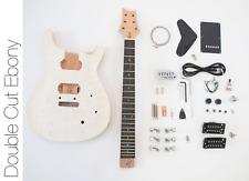 NEW DIY Electric Guitar Kit Double Cut Build Your Own Guitar Kit - Ebony