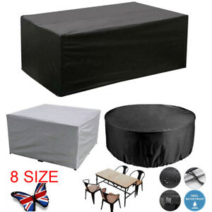 Extra Large Garden Rattan Outdoor Furniture Cover Patio Table Protection UKSTOCK