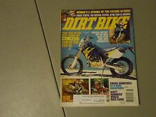 NOVEMBER 1997 DIRT BIKE MAGAZINE,HONDA CRM250 COVER,HUSABERG FC400,YZ250,KTM250,