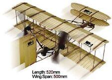 WF-1 Wright Brothers Rubber Band Powered 2 Propeller Plane Kit - Lyonaeec 88010