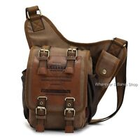 Men's Canvas Backpack Travel Shoulder Bag Chest Hiking Satchel Cross Body M209