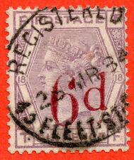 """SG. 162. K8B H. """"TF"""". 6D sur 6D lilas. plaque 18. un exemple raffiné utilisé."""