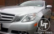 Mercedes E Class Coupe C207 Chrome Headlight Trim Bezels Luxury Trims 2010-2013