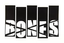 POWELL / BONES WHEELS -  Black Flag - Skateboard Sticker -