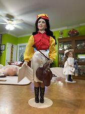 """Franklin Mint 16"""" Vintage Porcelain Elizabeth Taylor """"National Velvet"""" Doll"""