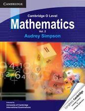 Cambridge O Level Mathematics: Volume 2 (Cambridge International Examinations),