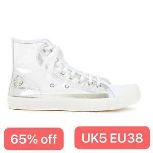 maison margiela tabi trainers clear pvc white leather tabi UK5 EU38 NEW with box