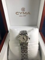 CYMA Ladie's Signature Series Mother of Pearl Dial Diamond Dial