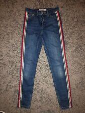 M/&S Indaco Scuro Lavato Look Jeans Strappati fidanzata