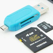 Micro USB + 2.0 OTG Adaptador SD Lectores tarjeta memoria Smart Phone Nuevo