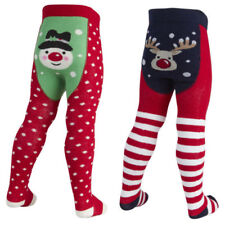 GIRLS XMAS TIGHTS Christmas Novelty Snowman Reindeer 0-24 months
