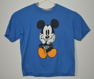 VTG Disney Walt Mickey and Co Mickey Mouse Sitting Single Stitch 90's Blue 1 SZ