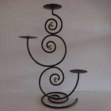 Chandelier candélabre bougeoir psychédélique fer forgé fait main design XXe