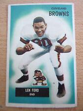 Vintage Cleveland Browns Lennie Ford 1955 Bowman No. 14 Football Card #2