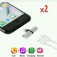P 2 x Dual Lightning Adapter Charging Splitter Cable for i Phone X 8 7 6 S 4:24