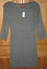 The Limited Dress Crochet Sweater Sheath Pullover Gray Small New 89.90 RET.