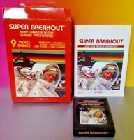 Super Breakout  Atari 2600 - Cartridge Box + Manual Tested Complete Rare