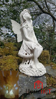 Large Solar powered Fairy secret Garden Ornament Resin Figurine Angel Statue