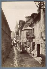 ND. France, Rouen, Rue des Matelas  Vintage albumen print.  Tirage albuminé