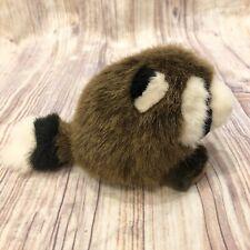 "Vintage 1994 Swibco Puffkins - 7"" Plush Racoon Stuffed Animal Toy Bandit New"